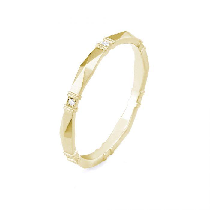 634d0e3f30a49 Erika Winters Viola Diamond 18k Yellow Gold Wedding Band