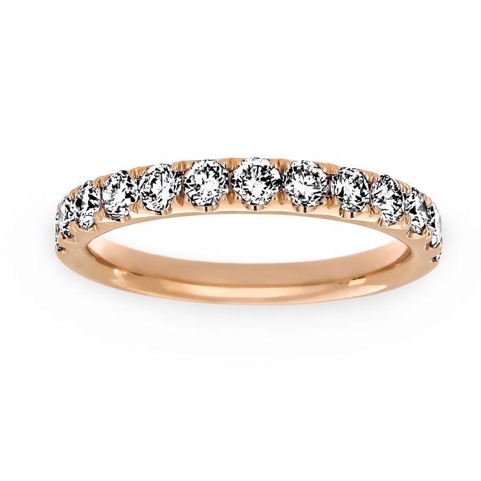 66e55b9d45b31 Henri Daussi Light Pink Diamond Wedding Band