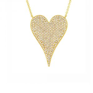 TWO by London 14k Gold Heart Pendant Necklace