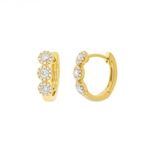 TWO by London 14k Gold Huggie Hoop Earrings