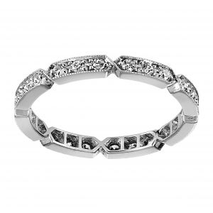 Single Stone Carly Platinum Eternity Band