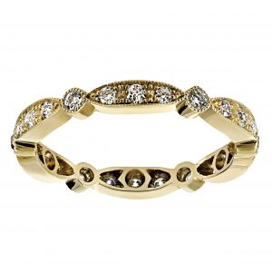 Single Stone Sadie Yellow Gold Eternity Band