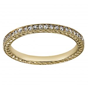 Single Stone Molly Pave Eternity Band
