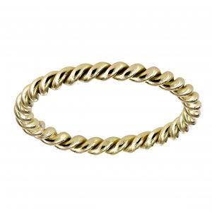 Single Stone Lara Twisted Yellow Gold Band
