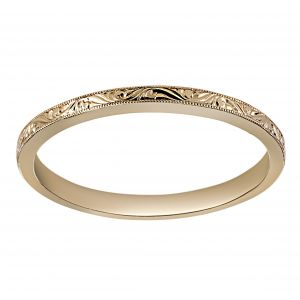 Single Stone Hazel Mini Rose Gold Band