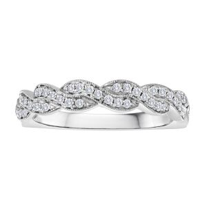 TWO by London Round Diamond Pave Braided Anniversary Band