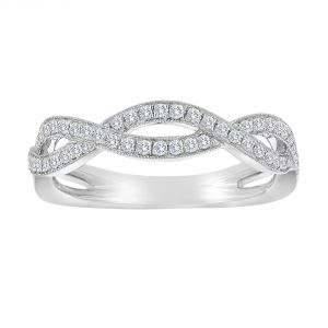 TWO by London Pave Diamond Half Twist Wedding Band