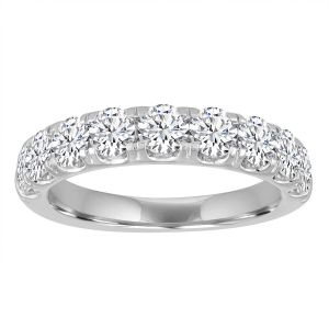 TWO by London Pave Split Prong Half Diamond Anniversary Band
