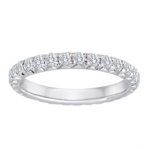 TWO by London Diamond Fishtail Eternity Band