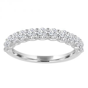 TWO by London Round Diamond Shared U Prong Half Anniversary Band