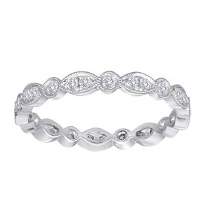 TWO by London Mixed Shape Pave Diamond Eternity Band