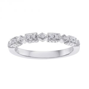 TWO by London Mixed Shape Diamond Milgrain Anniversary Band