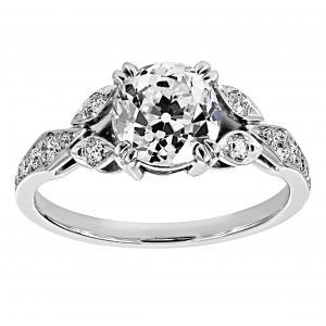 Single Stone Ella Cushion Diamond Engagement Ring