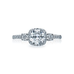 Tacori Dantela Three Stone Engagement Ring