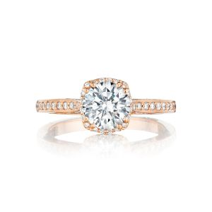 Tacori Dantela Pave Halo Engagement Ring