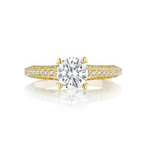 Tacori Classic Crescent Tapered Pave Engagement Ring