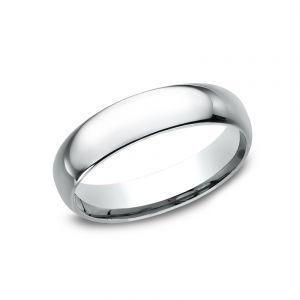 Benchmark Standard Platinum Comfort-Fit 5mm Wedding Ring