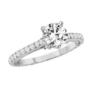 Jack Kelege Grace 18k White Gold Unique Diamond Engagement Ring