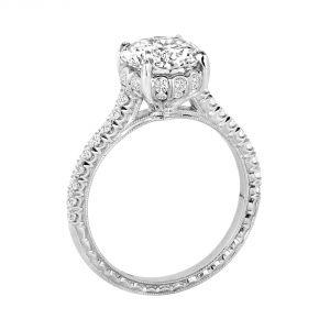 Jack Kelege Flora Platinum Diamond Engagement Ring