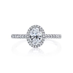MARS Jewelry Ever After Oval Diamond Halo Engagement Ring