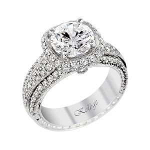 Jack Kelege Heritage Platinum Diamond Engagement Ring