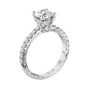 Jack Kelege Grace 18k Gold Round Diamond Engagement Ring