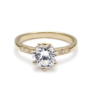 Anna Sheffield Hazeline Yellow Gold Ring