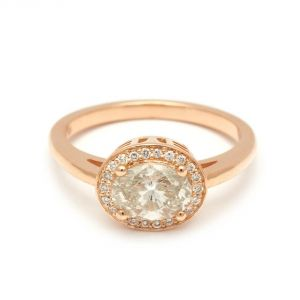 Anna Sheffield Rosete Yellow Gold Engagement Ring