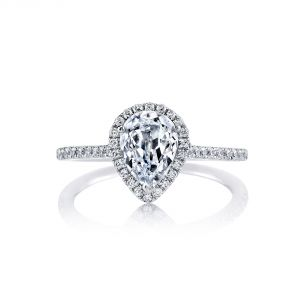 MARS Jewelry Ever After Pear Diamond Halo Engagement Ring