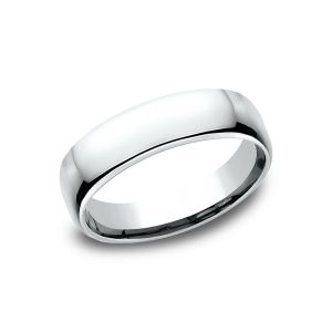 Benchmark 5.5mm 14k White Gold European Comfort-Fit Wedding Band