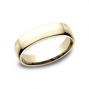 Benchmark 5.5mm 14k Yellow Gold European Comfort-Fit Wedding Band