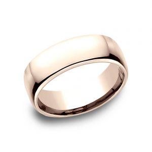 Benchmark 7.5mm 14k Rose Gold European Comfort-Fit Wedding Band