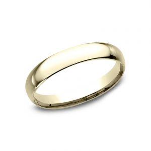 Benchmark 14k Yellow Gold Standard Comfort-Fit 3mm Wedding Ring
