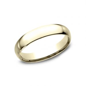 Benchmark 14k Yellow Gold Standard Comfort-Fit 4mm Wedding Ring
