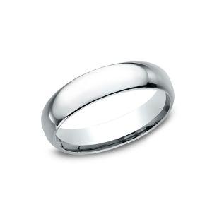 Benchmark Standard Comfort-Fit 5mm 14k White Gold Wedding Ring