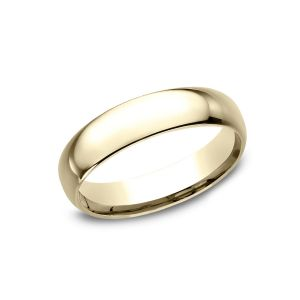 Benchmark 18k Yellow Gold Standard Comfort-Fit 5mm Wedding Ring
