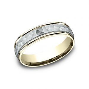 Benchmark 6mm Sculpted Design Platinum Wedding Band