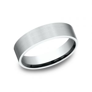 Benchmark 6mm Textured Finish Platinum Sculpted Design Wedding Band