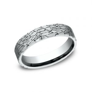 Benchmark 5mm Sculpted Design Wedding Band