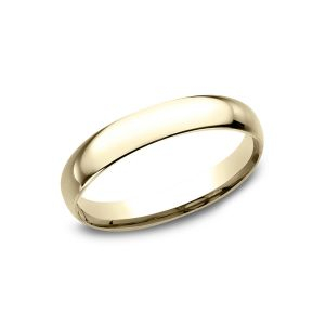 Benchmark 14k Yellow Gold Standard Comfort-Fit Domed 3mm Wedding Ring