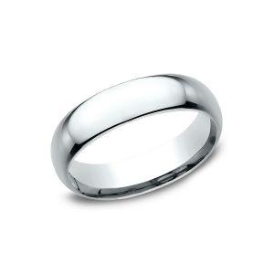 Benchmark 18k White Gold Standard Comfort-Fit 6mm Wedding Ring