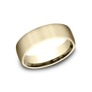 Benchmark 18k Yellow Gold 6.5mm Sculpted Design Wedding Band