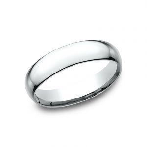 Benchmark 14k White Gold Super Light Comfort-Fit 5mm Wedding Ring