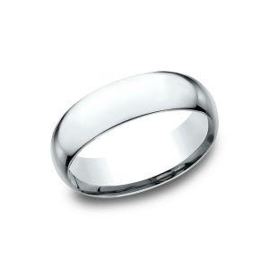 Benchmark Super Light 14k White Gold Comfort-Fit 7mm Wedding Ring