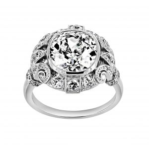 Single Stone Tiffany Cushion Cut Diamond Vintage Ring