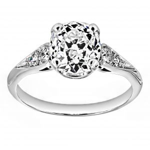 Single Stone Amanda Cushion Diamond Engagement Ring