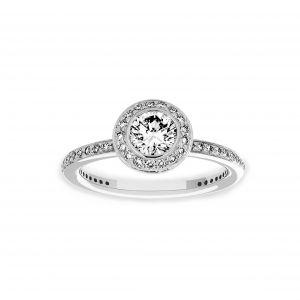 Ritani Round Diamond Halo Engagment Ring
