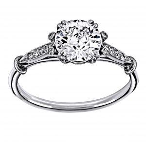 Single Stone Sophia Old European Cut Diamond Engagement Ring