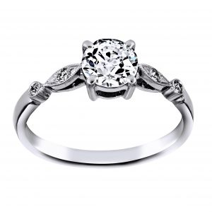 Single Stone Caitlyn Round Diamond Engagement Ring