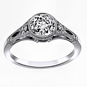 Single Stone Corinne Bezel Diamond Engagement Ring